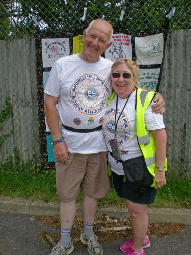 Graham Marchant, who has ridden in all our Bike Rides, with Terri Stephens the Ride Controller