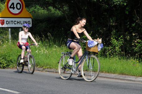 All sorts take part in the Bike Ride!