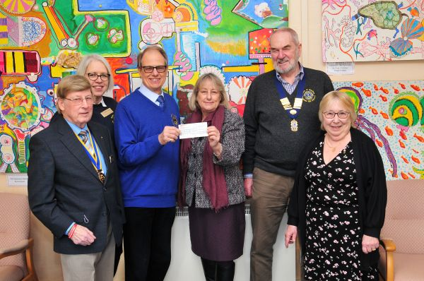 Presentation of £2,500 cheque to Headway East Sussex