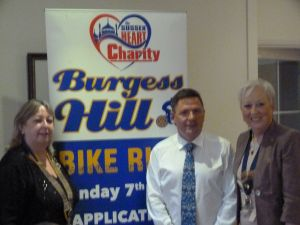 Presentation of Cheques for 2015 Burgess Hill Bike Ride